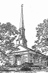 An ink drawing of the church.