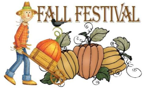 Fall Festival with scarecrow and pumpkins