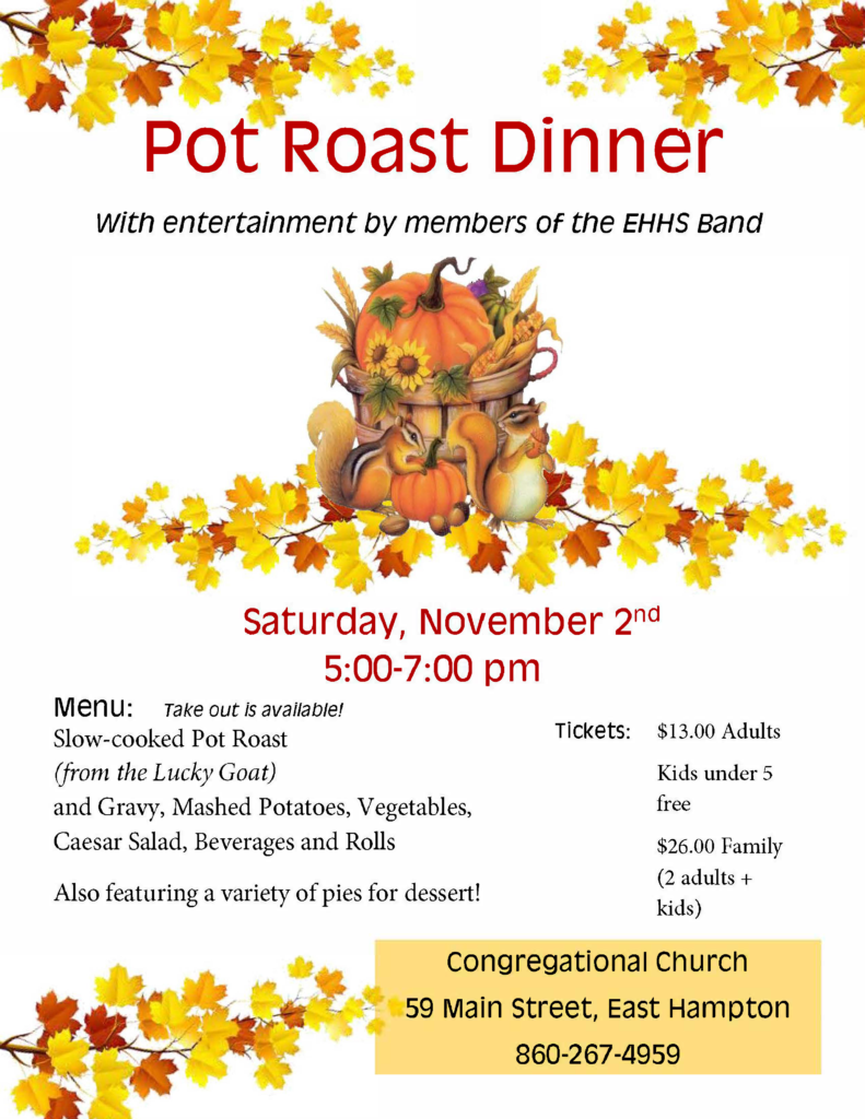 pot roast dinner flyer