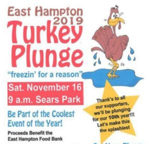 turkey plunge east hampton saturday november 16 at 9am in Sears Park