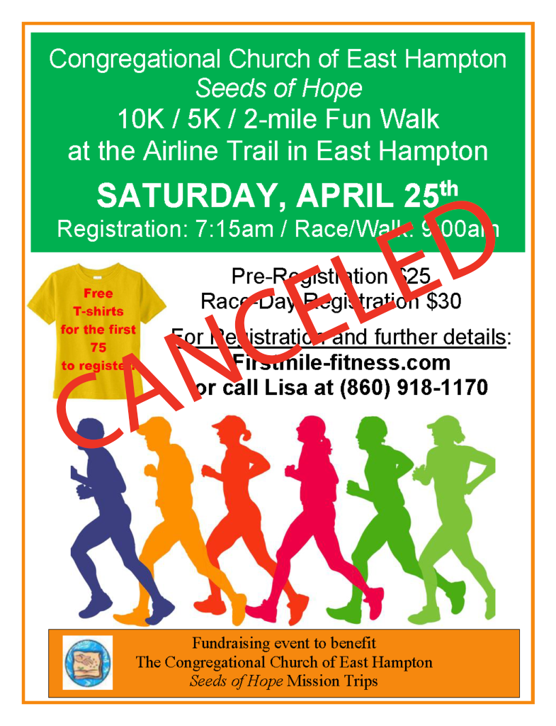Seeds of Hope road race has been canceled