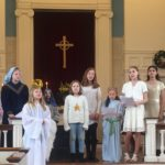 young children in a church choir