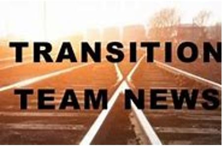 Transition team news
