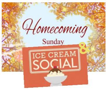 Homecoming Sunday ice cream social