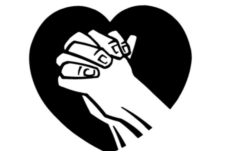 Hands in a heart